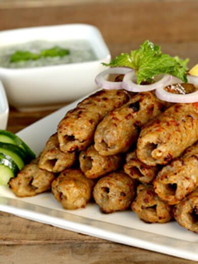 Charcoal Seekh Kebabs